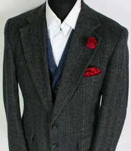 Load image into Gallery viewer, Tweed Blazer Jacket Grey 40S FANTASTIC COLOURS 3945