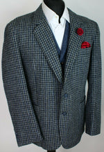 Load image into Gallery viewer, Harris Tweed Jacket Blazer Grey Blue 44R SUPERB COLOURS 3817