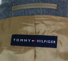 Load image into Gallery viewer, Grey Blazer Jacket Tommy Hilfiger Silk Blend 44L SUPERB QUALITY 3891