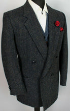 Load image into Gallery viewer, Harris Tweed Jacket Blazer Blue Double Breasted 42R SUPERB QUALITY 3794