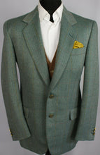 Load image into Gallery viewer, Tweed Blazer Jacket Green Merino Wool Pierre Cardin 40R FANTASTIC GARMENT 3417