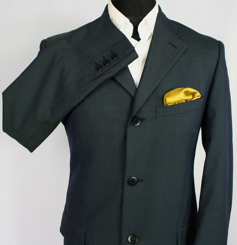 Versace Blazer Jacket Blue Wool Mohair 38L AMAZING IRIDESCENT FABRIC 3431
