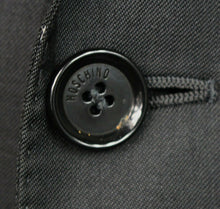 Load image into Gallery viewer, Moschino Blazer Jacket Grey Charcoal Designer 40R AMAZING UNIQUE GARMENT 3022