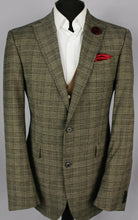 Load image into Gallery viewer, Joop Jacket Blazer Brown Check Designer 40L SUPERB GARMENT 2903