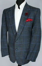 Load image into Gallery viewer, Valentino Blue Summer Blazer Jacket 42R WOOL & SILK 3193