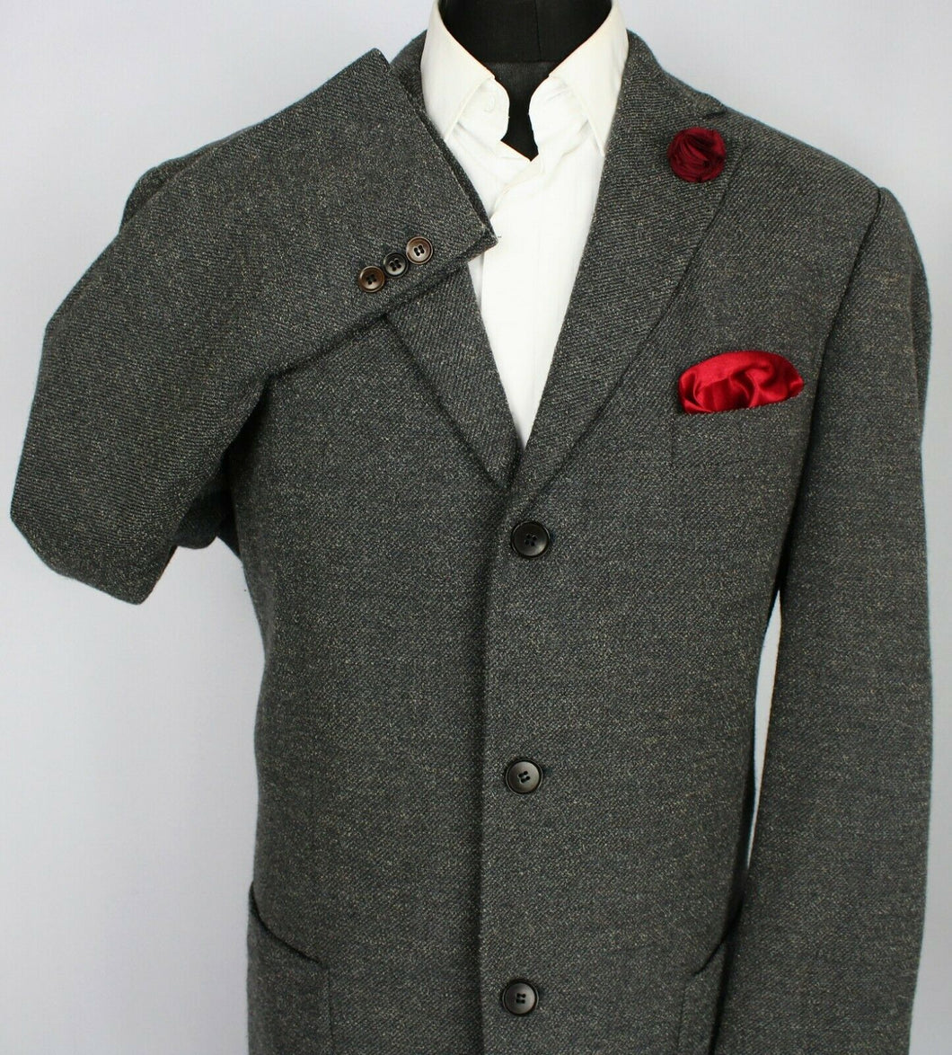 BOSS Blazer Jacket Grey Designer 46L SUPERB QUALITY 3646