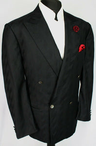 Yves Saint Laurent Summer Blazer Jacket Black 42R PURE SILK 3183