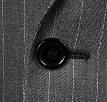 Load image into Gallery viewer, Kenneth Cole New York Grey Pinstripe Blazer Jacket 100% Wool Fabric 40R 234