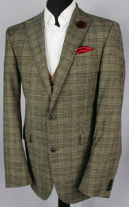 Joop Jacket Blazer Brown Check Designer 40L SUPERB GARMENT 2903