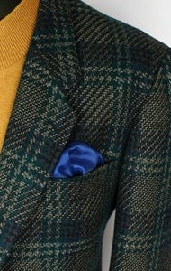 Tweed Blazer Jacket Tartan Pierre Cardin 40R FANTASTIC GARMENT 2879