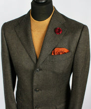 Load image into Gallery viewer, Blazer Jacket Brown Cashmere Italian Tailored 38R AMAZING PIACENZA FABRIC #2166