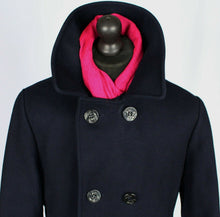 Load image into Gallery viewer, Pea Coat Reefer Jacket Navy Blue 40R EXCEPTIONAL GARMENT 3495