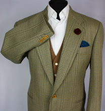 Load image into Gallery viewer, Tweed FERRE Blazer Jacket Green Oatmeal 42R WONDERFUL GARMENT 2897