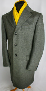 Grey Coat Overcoat Italian Made 42R EXCEPTIONAL GARMENT 3680