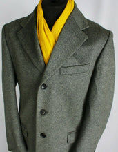 Load image into Gallery viewer, Grey Coat Overcoat Italian Made 42R EXCEPTIONAL GARMENT 3680