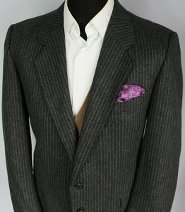 Grey Blazer Jacket Yves Saint Laurent Pinstripe Designer 42R SUPERB 2730