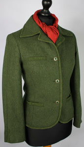 Country Blazer Jacket Hacking Green Fitted Size 8/10
