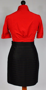 Vintage 1980's Emanuel Ungaro Black & Red Skirt UK 8