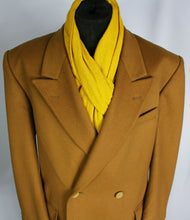 Load image into Gallery viewer, Coat Camel Brown Double Breasted Wool Cashmere 46R EXCEPTIONAL 3682