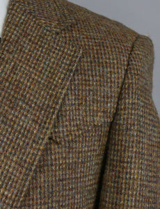 Harris Tweed Jacket Brown American Western Style 38L EXTREMELY RARE 3429