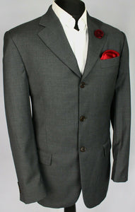 FERRE Blazer Jacket Grey Lightweight 40R WONDERFUL QUALITY 3225