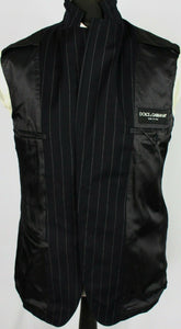 Dolce Gabbana Blazer Jacket Black Pinstripe Lightweight 38R SUPERB QUALITY 3352