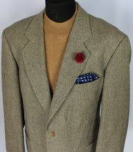 Load image into Gallery viewer, Tweed  Blazer Jacket Hugo Boss Brown 46S WOOL CASHMERE FABRIC 3746
