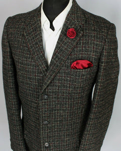 Harris Tweed Jacket Blazer Hunting Shooting 40L VINTAGE 1950's TWEED 3715
