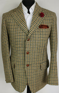 Harris Tweed Jacket Blazer Hunting Shooting 38R VINTAGE 1970's DUNN & CO 3876