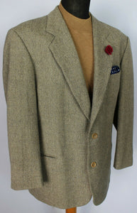 Tweed  Blazer Jacket Hugo Boss Brown 46S WOOL CASHMERE FABRIC 3746