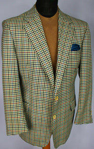 Burberry Blazer Jacket Cream Lightweight Wool 40S AMAZING QUALITY 3167