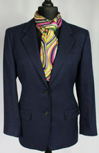 Load image into Gallery viewer, DAKS Signature Jacket Blazer Blue Wool Silk Linen UK 12 BEAUTIFUL JACKET 3041