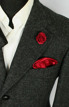 Load image into Gallery viewer, Tweed Blazer Jacket Grey Italian Made 40R MOON SHETLAND WOOL TWEED 3703