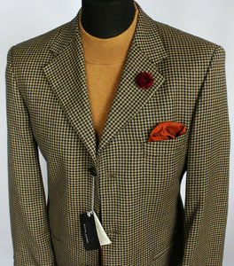 Summer Pierre Cardin Blazer Jacket Brown Blue Wedding 38R EXCEPTIONAL #2169