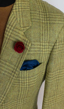 Load image into Gallery viewer, Tweed Blazer Jacket Hugo Boss Brown 42S SUPERB QUALITY FABRIC 3824