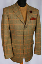Load image into Gallery viewer, Loro Piana Blazer Jacket Brown BOSS Designer 40R 100% MERINO WOOL 3042