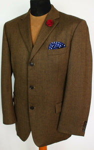 Tweed Blazer Jacket Brown Hugo Boss 44R SUPERB QUALITY 3831