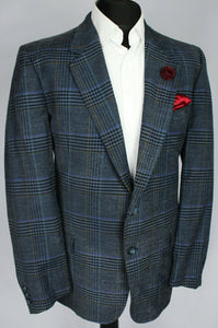 Valentino Blue Summer Blazer Jacket 42R WOOL & SILK 3193