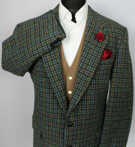 Harris Tweed Blazer Jacket Blue Grey 44S SUPERB COLOUR 3733