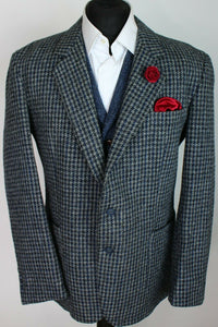Harris Tweed Jacket Blazer Grey Blue 44R SUPERB COLOURS 3817