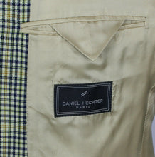 Load image into Gallery viewer, Summer Blazer Jacket Cream Blue Daniel Hechter 42R Wool & Silk 2973