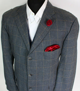 Grey Blazer Jacket Tommy Hilfiger Silk Blend 44L SUPERB QUALITY 3891