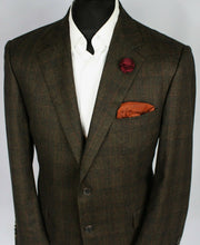 Load image into Gallery viewer, Burberry London Blazer Jacket Brown Check 44S AMAZING QUALITY 3575