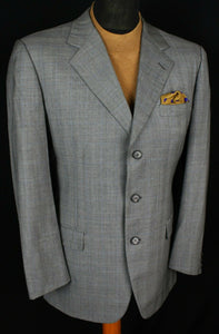 Burberry London Blazer Jacket Grey Designer 42R 100% WOOL 2908
