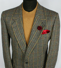 Load image into Gallery viewer, Valentino Tweed Jacket Blazer Windowpane Wool 40R FANTASTIC GARMENT 2305