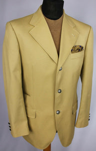 Fay Blazer Jacket Brown Tan 100% Cotton 40R EXCEPTIONAL RRP £700 #3015