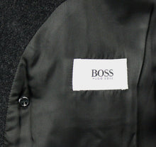 Load image into Gallery viewer, Hugo Boss Coat Grey Designer 100% Wool 48R EXCEPTIONAL GARMENT 2589
