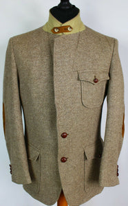 Norfolk Tweed Blazer Jacket Brown Shooting Hunting 40R RARE VINTAGE TWEED 3924