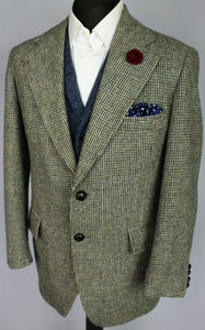 Harris Tweed Blazer Jacket Grey 40S SUPERB WEAVE 3165