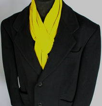 Load image into Gallery viewer, Black Crombie Coat Overcoat Italian Made 48R EXCEPTIONAL GARMENT 3690